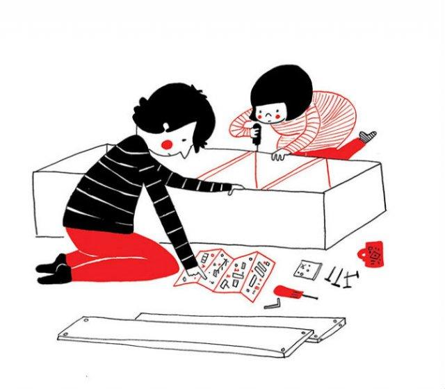 Gesturile mici ale inimilor pereche, in desene emotionante - Poza 11