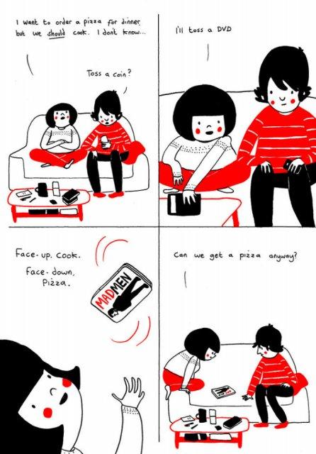 Gesturile mici ale inimilor pereche, in desene emotionante - Poza 7