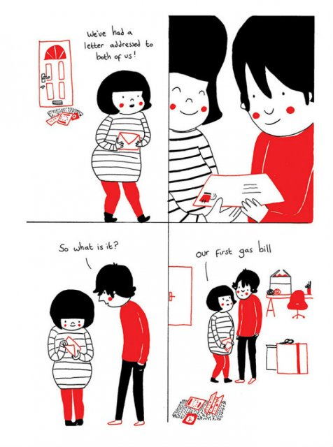 Gesturile mici ale inimilor pereche, in desene emotionante - Poza 9