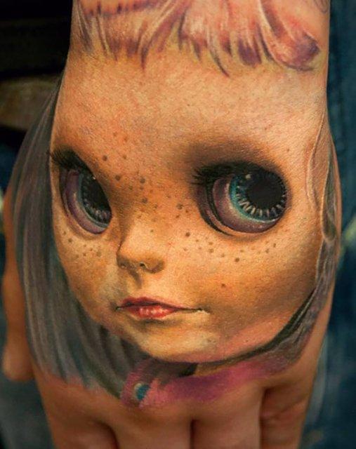 Tatuaje 3D realiste: Cerneala care prinde viata cand simte miros de pi - Poza 13