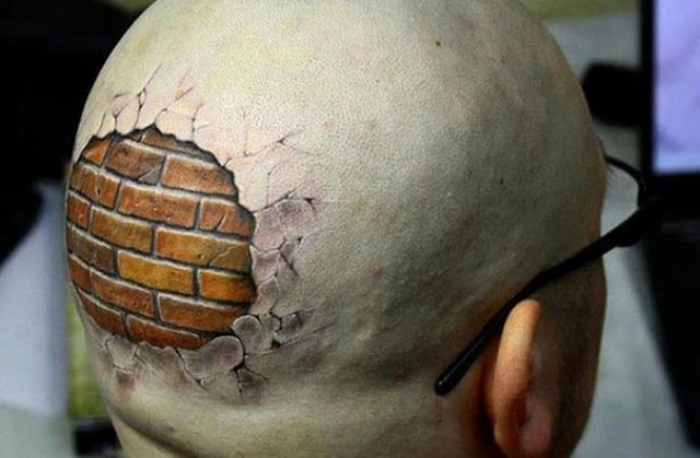 Tatuaje 3D realiste: Cerneala care prinde viata cand simte miros de pi - Poza 14