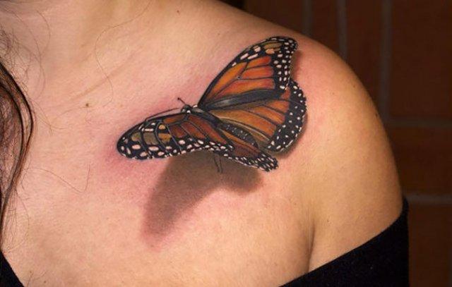Tatuaje 3D realiste: Cerneala care prinde viata cand simte miros de pi - Poza 3