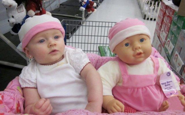 Copilasi adorabili care arata ca papusile lor - Poza 8