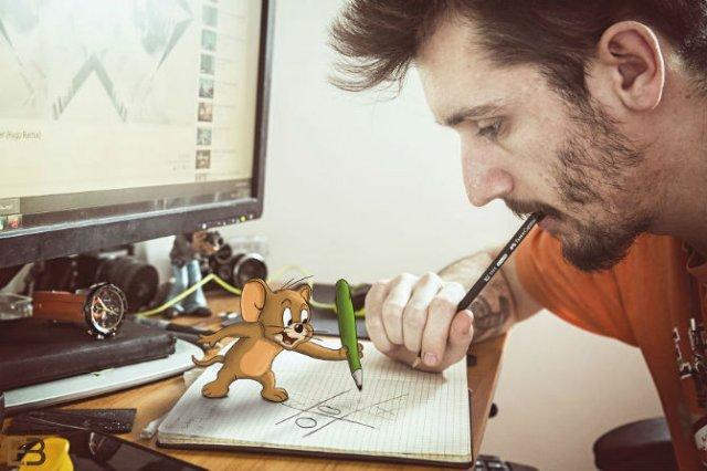 La birou cu Jerry si Nibbles - Poza 1