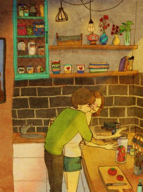 Marea dragoste, in gesturi marunte: 13 Ilustratii duioase - Poza 1