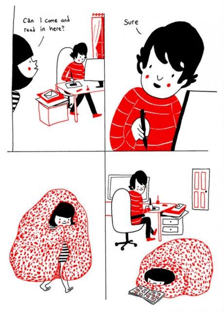 Gesturile mici ale inimilor pereche, in desene emotionante - Poza 2