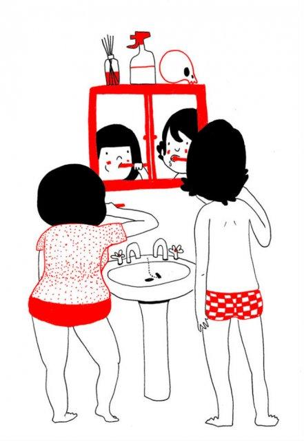 Gesturile mici ale inimilor pereche, in desene emotionante - Poza 4