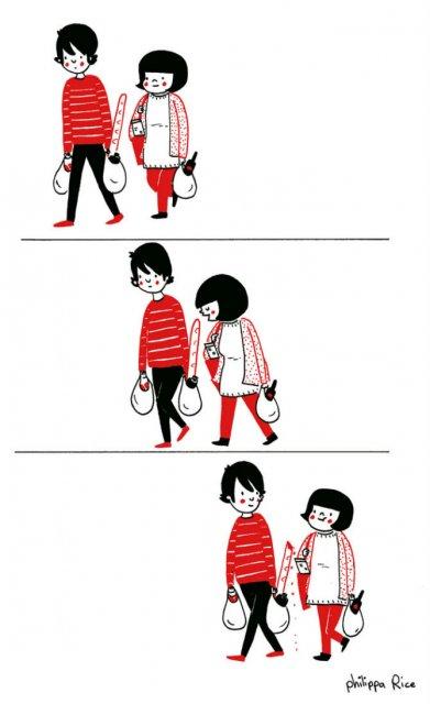 Gesturile mici ale inimilor pereche, in desene emotionante - Poza 5