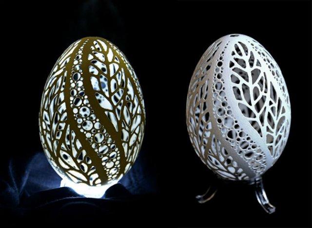 Arta sculpturii in coaja de ou