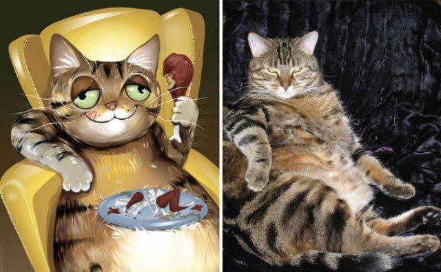 Portrete simpatice cu pisici si caini - Poza 14