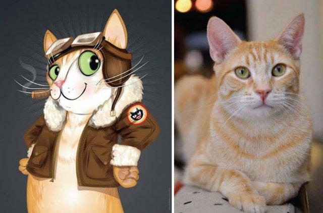 Portrete simpatice cu pisici si caini - Poza 15