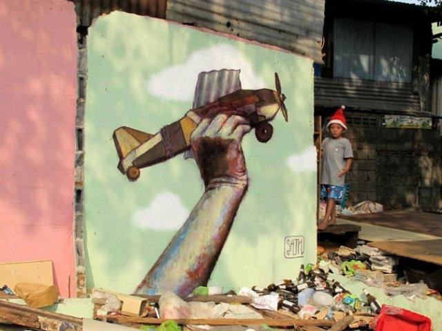 Interventii urbane: Picturi stradale geniale, in contexte banale - Poza 10