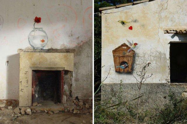 Interventii urbane: Picturi stradale geniale, in contexte banale - Poza 11