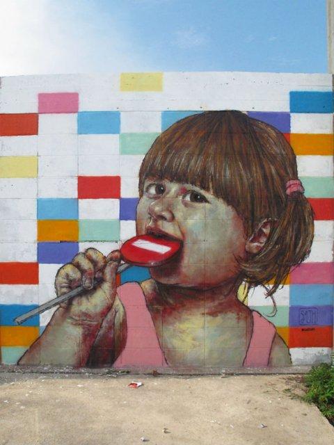 Interventii urbane: Picturi stradale geniale, in contexte banale - Poza 12