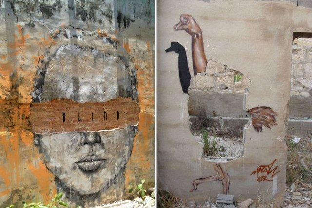 Interventii urbane: Picturi stradale geniale, in contexte banale - Poza 13