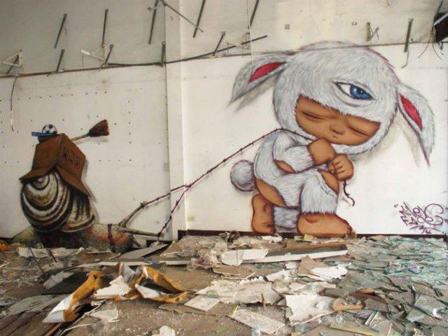 Interventii urbane: Picturi stradale geniale, in contexte banale - Poza 14