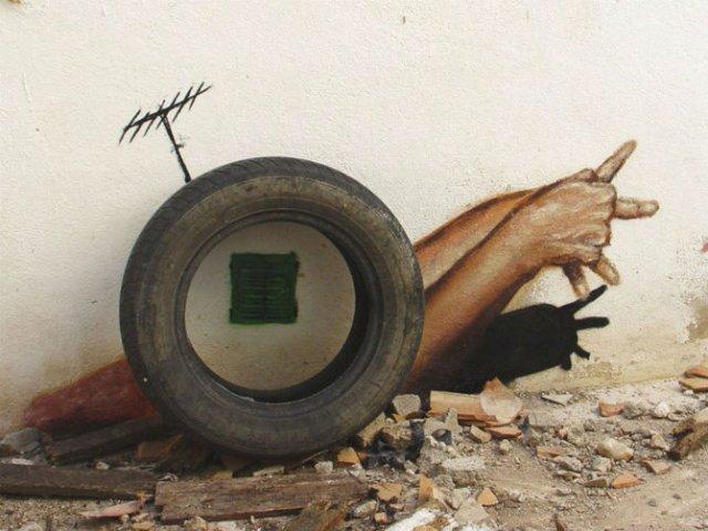 Interventii urbane: Picturi stradale geniale, in contexte banale - Poza 15