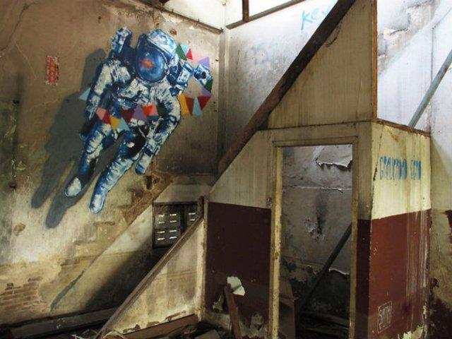 Interventii urbane: Picturi stradale geniale, in contexte banale - Poza 7