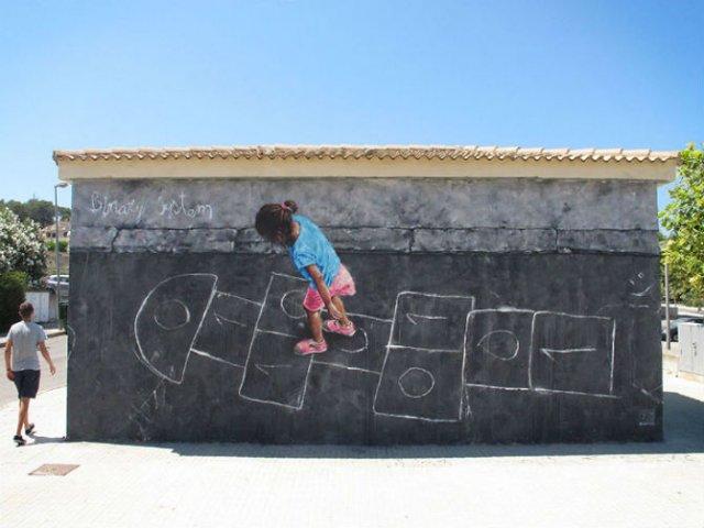 Interventii urbane: Picturi stradale geniale, in contexte banale - Poza 8
