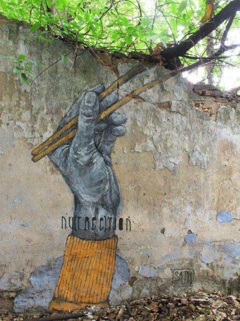 Interventii urbane: Picturi stradale geniale, in contexte banale - Poza 9