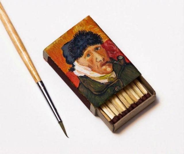 Van Gogh, pe cutii de chibrituri, in picturi miniaturale - Poza 2