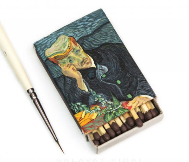 Van Gogh, pe cutii de chibrituri, in picturi miniaturale - Poza 5