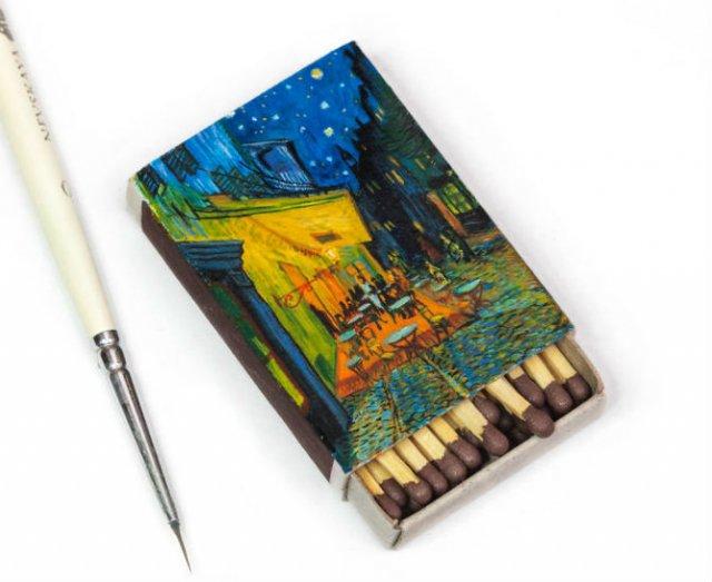 Van Gogh, pe cutii de chibrituri, in picturi miniaturale - Poza 6