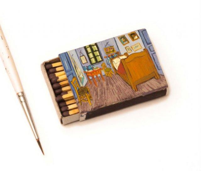 Van Gogh, pe cutii de chibrituri, in picturi miniaturale - Poza 7
