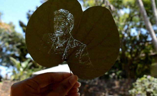 Arta pe frunze, cu Iantha Naicker
