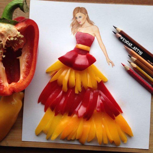 Moda bizara cu alimente, in ilustratii 3D - Poza 2