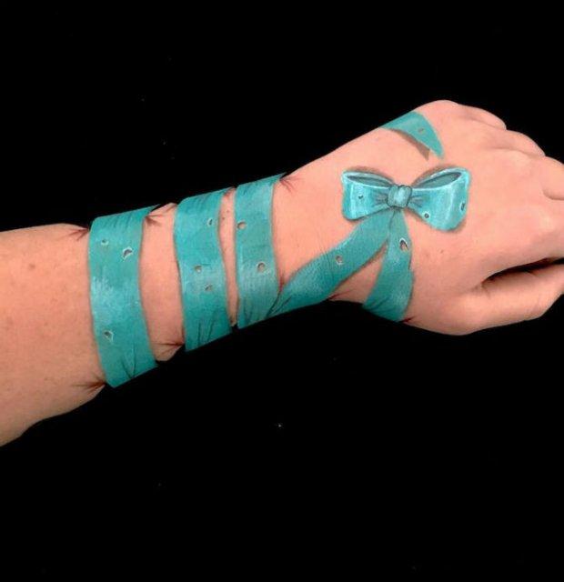 Picturi 3D pe piele, cu Lisha Simpson - Poza 6
