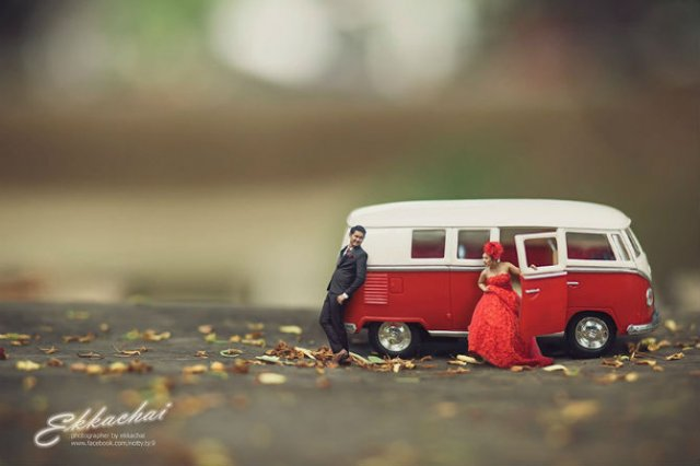 Cupluri miniaturale, intr-un pictorial suprarealist - Poza 9