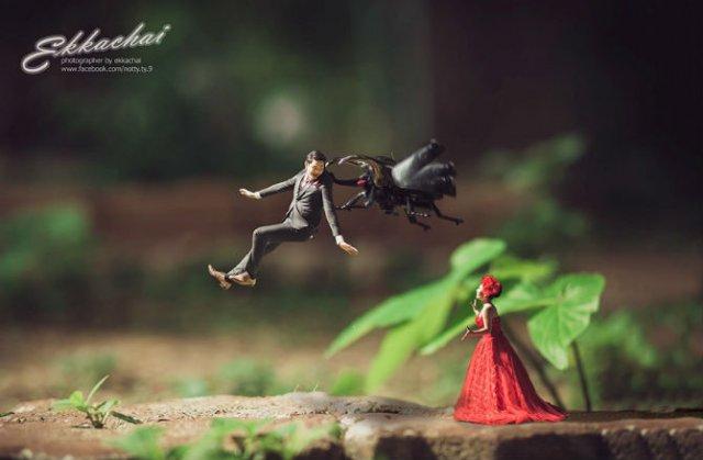 Cupluri miniaturale, intr-un pictorial suprarealist - Poza 8