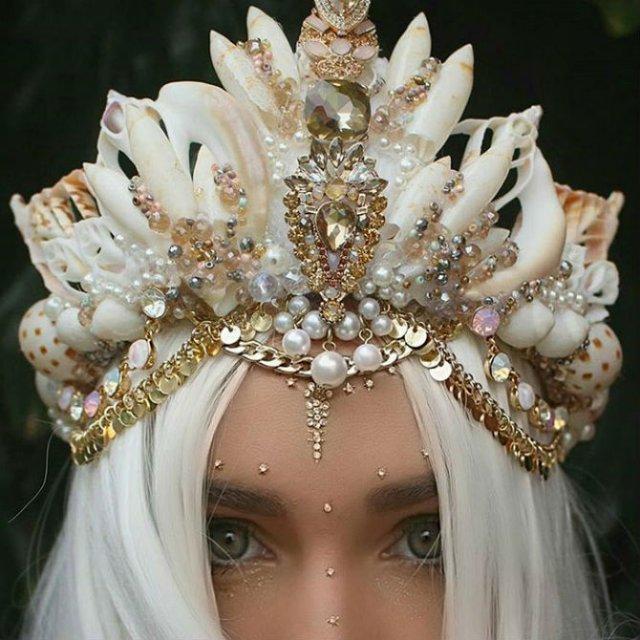 Se poarta scoicile: Coroane de sirena din cochilii - Poza 11
