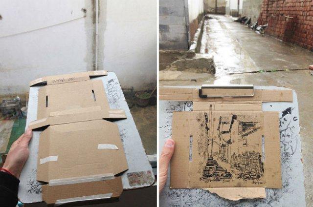 Ilustratii pe resturi de carton - Poza 15