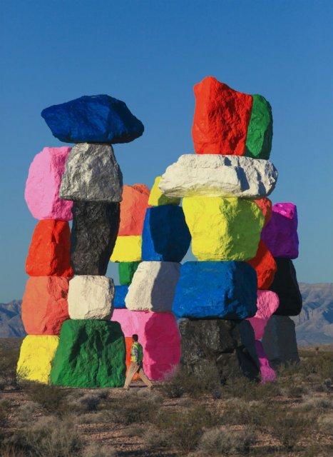 Cei sapte munti magici: Petele de culoare din mijlocul desertului - Poza 5