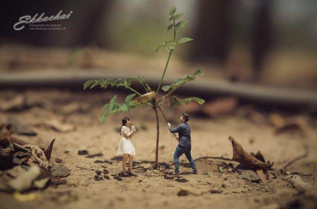 Cupluri miniaturale, intr-un pictorial suprarealist - Poza 5