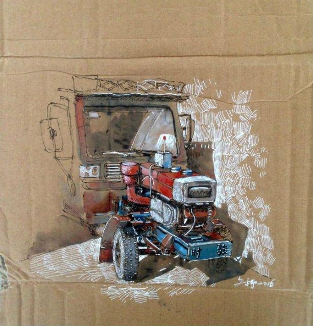 Ilustratii pe resturi de carton - Poza 14