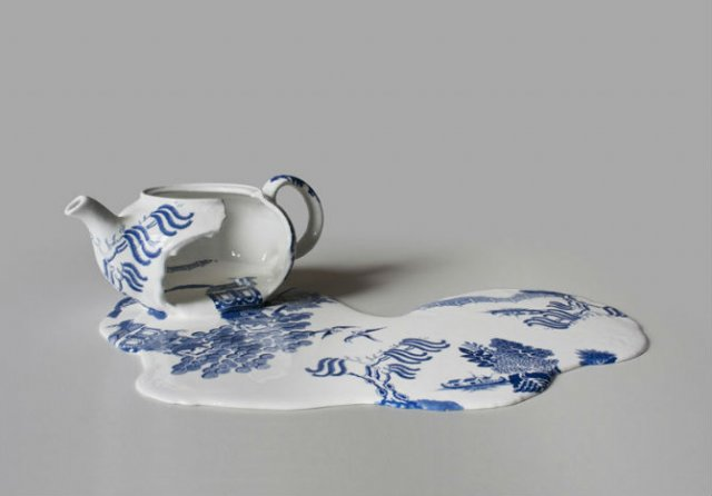 Balti de portelan: Piese din ceramica topite iscusit - Poza 2