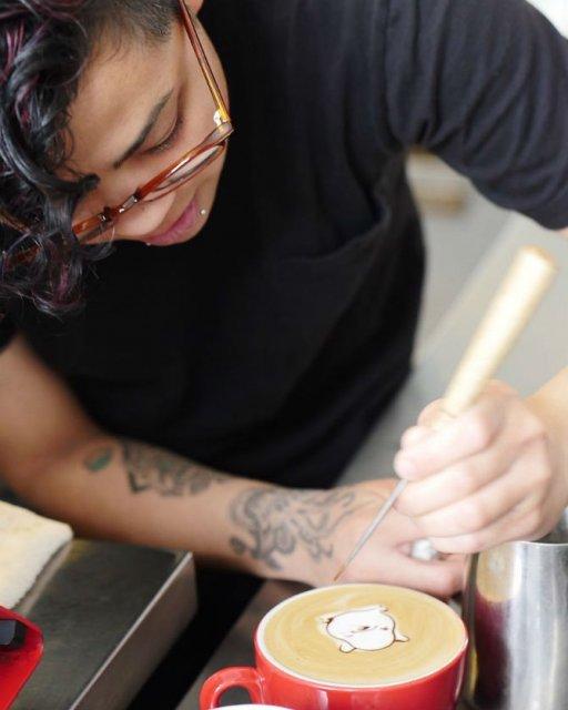 Bauturi pe baza de cafea frumos decorate - Poza 19