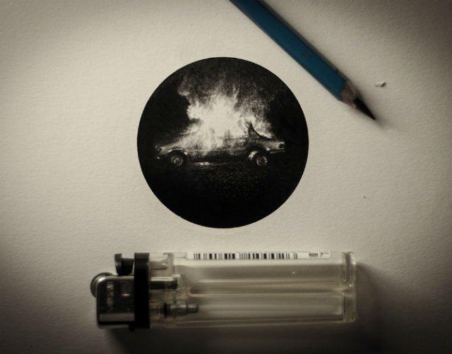 Arta miniaturala cu grafit, de Mateo Pizarro - Poza 3