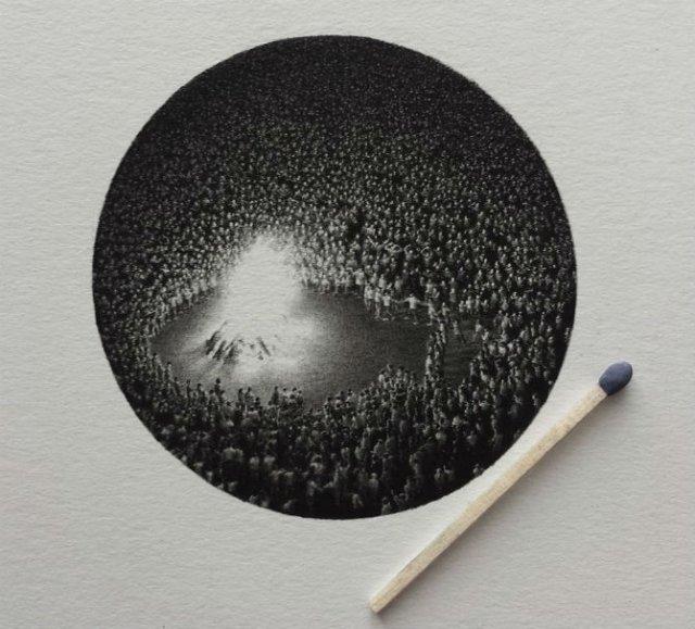 Arta miniaturala cu grafit, de Mateo Pizarro - Poza 1