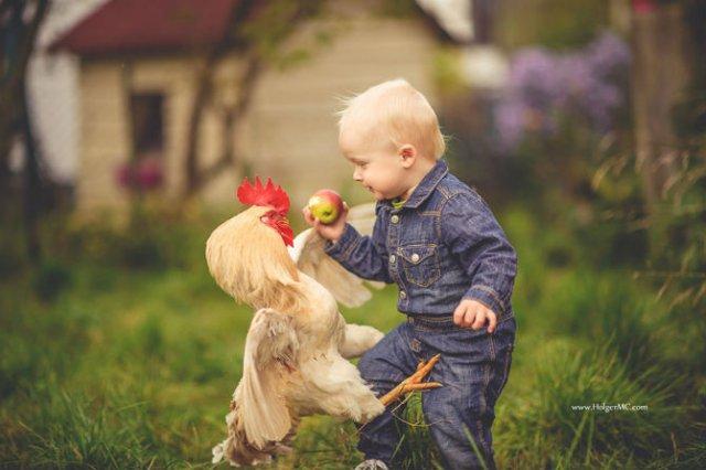 Animale si copilasi, intr-un pictorial superb - Poza 11