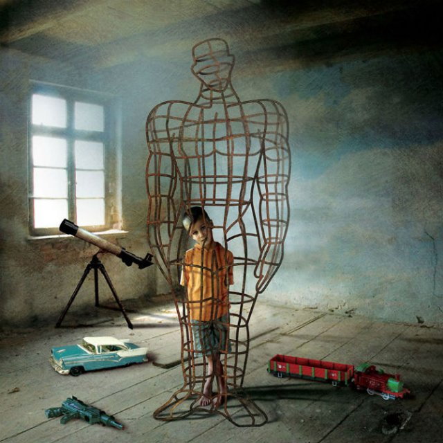 Partea intunecata a societatii moderne in ilustratii controversate