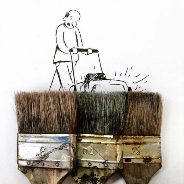 Obiecte banale transformate in ilustratii haioase - Poza 6