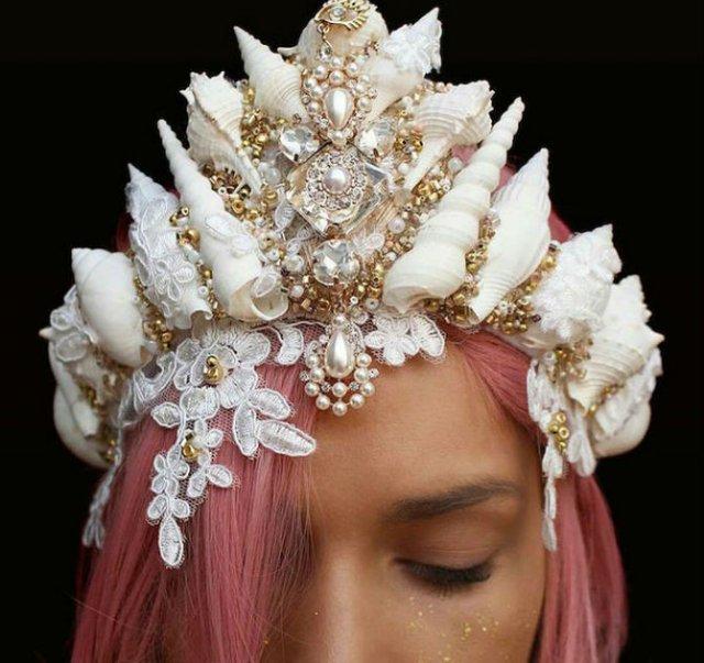 Se poarta scoicile: Coroane de sirena din cochilii - Poza 3