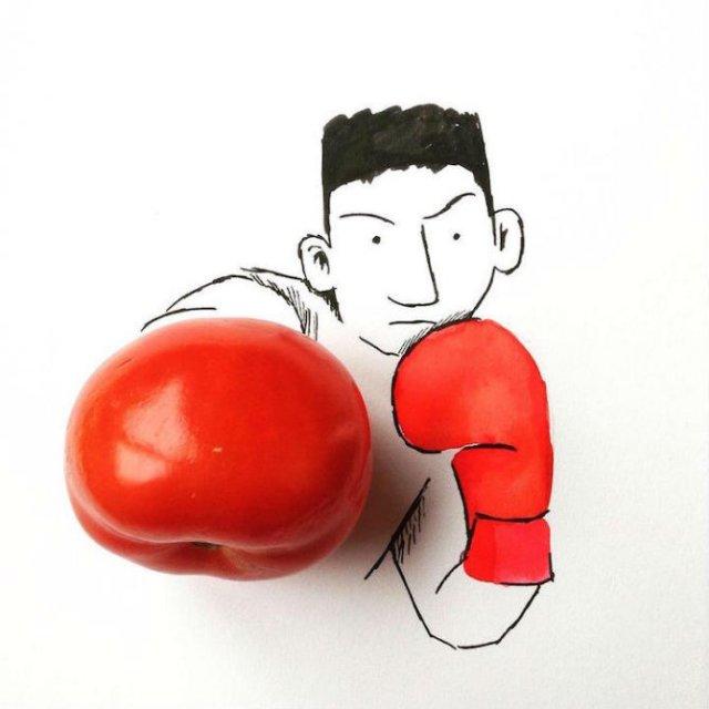 Obiecte banale transformate in ilustratii haioase - Poza 1