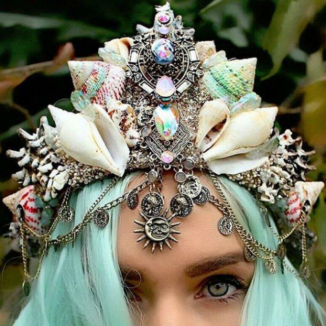 Se poarta scoicile: Coroane de sirena din cochilii - Poza 1