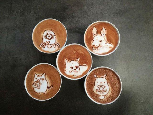 Bauturi pe baza de cafea frumos decorate - Poza 18