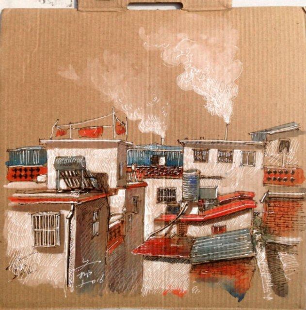 Ilustratii pe resturi de carton - Poza 11